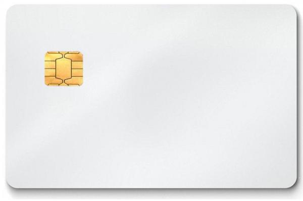 Karte (Chipkarte, weiß)