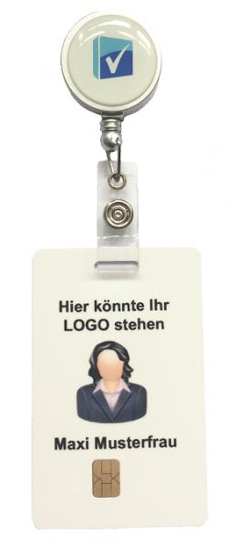 Mitarbeiterkarte inkl. Rollerclip
