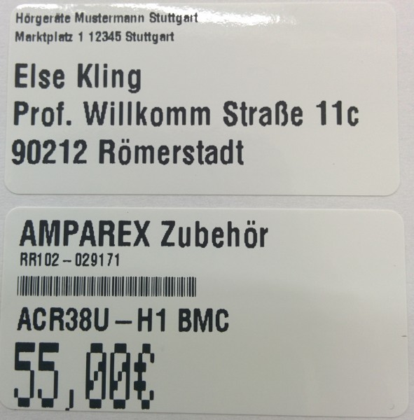 50,8 x 25,4 mm Etiketten (Thermotransfer)